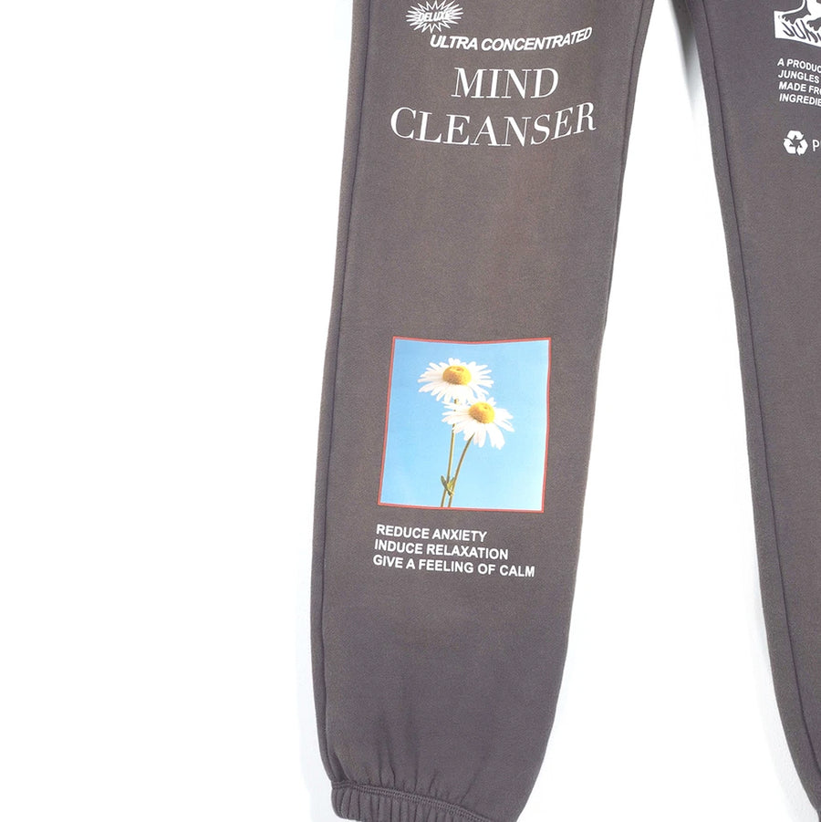 Jungles Mind Cleanser Track Pants Spray Dyed Grey