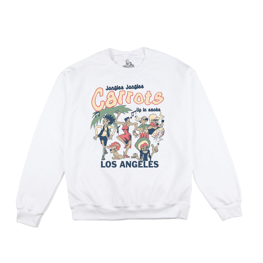 Jungles x Carrots Up In Smoke Crewneck White