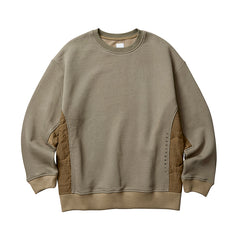 Liberaiders Side Quilted Crewneck Sweat Olive