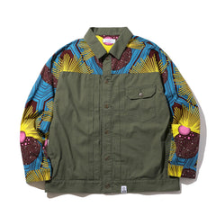 Magic Stick African 1st Type Shirt Jacket Olive Drab/Multi