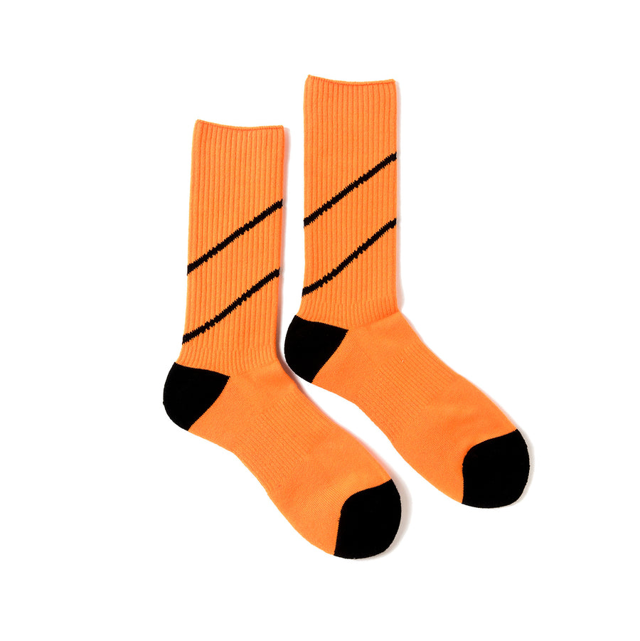 Magic Stick Comfy Lined Socks Neon Orange