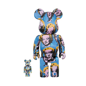 Medicom Toy BE@RBRICK Andy Warhol Marilyn Monroe 400% + 100%
