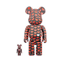 Medicom Toy BE@RBRICK Black Heart 400% + 100%