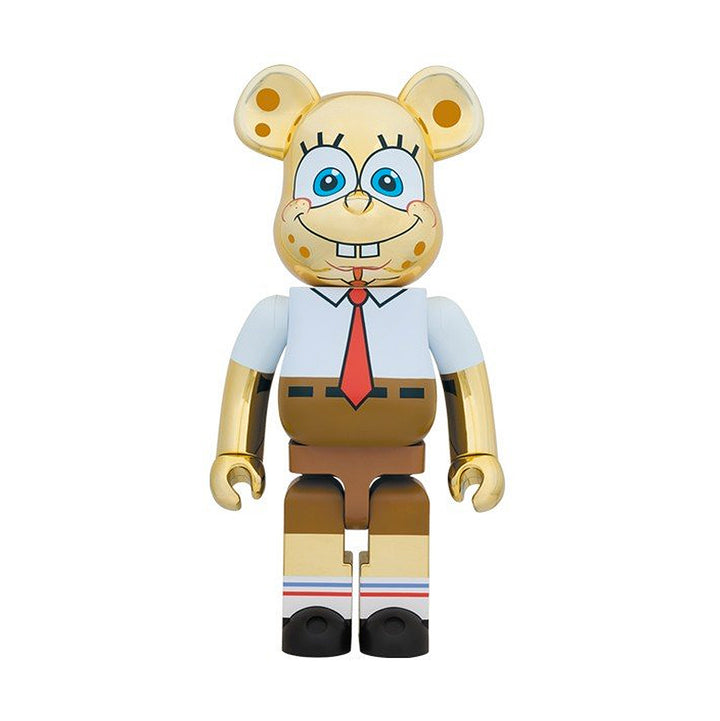 Medicom Toy Be@rbrick Sponge Bob Metallic Gold 1000%