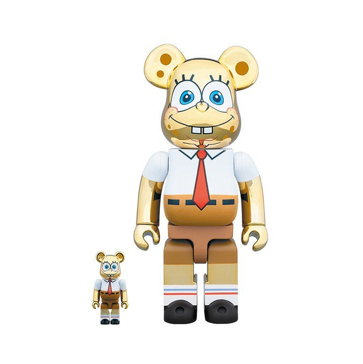 Medicom Toy Be@rbrick Sponge Bob Metallic Gold 400% + 100%