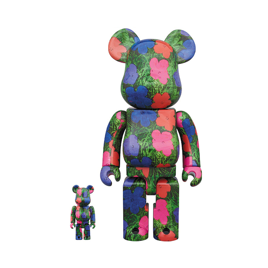 Medicom Toy Be@rbrick Andy Warhol Flowers 400% + 100%