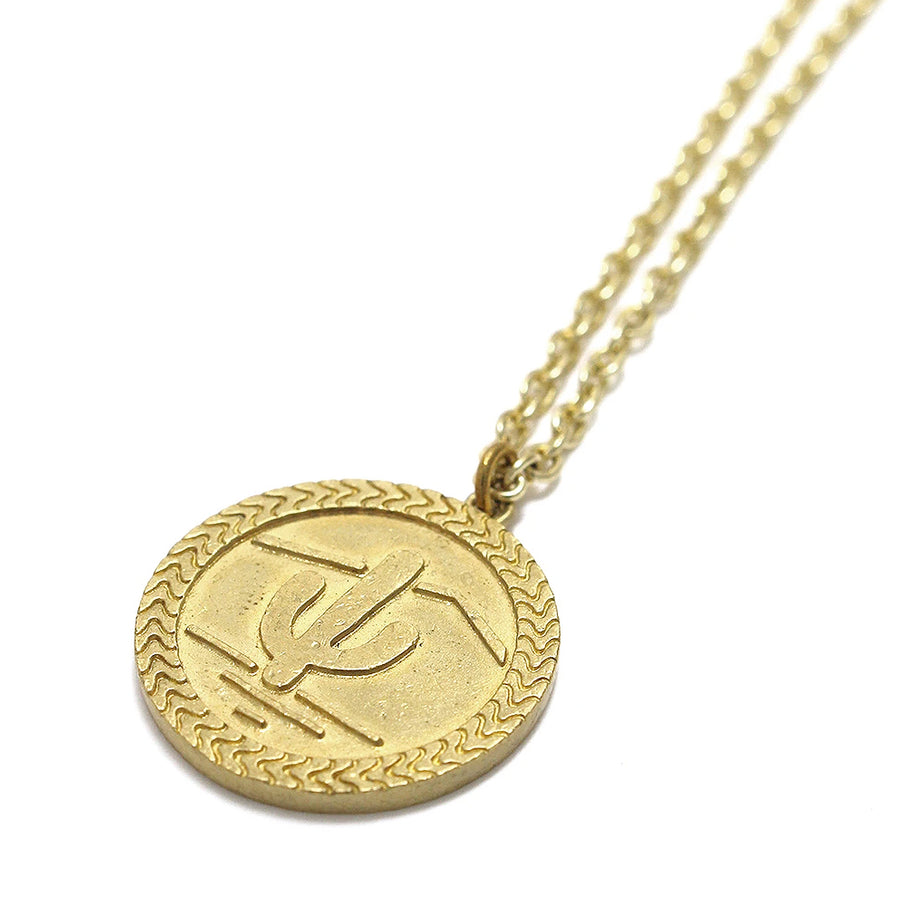 Mikia Snake Coin Necklace Brass