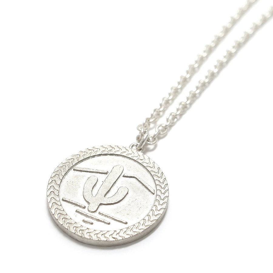 Mikia Snake Coin Necklace Silver