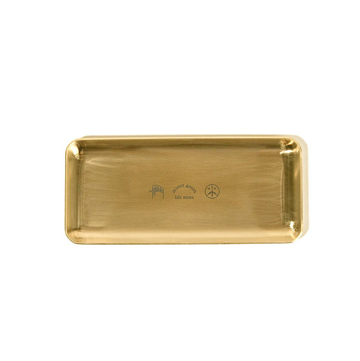 Mister Green Rolling Tray Gold