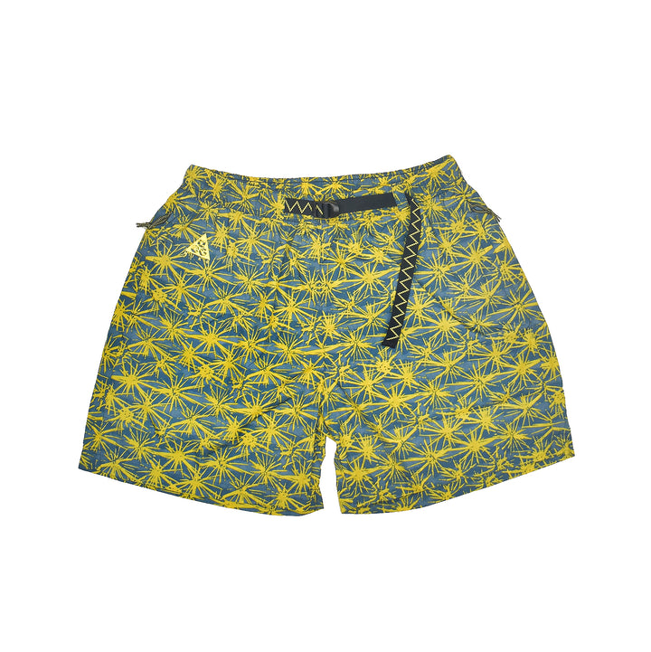 Nike ACG All Over Print Woven Shorts Tour Yellow/Blue