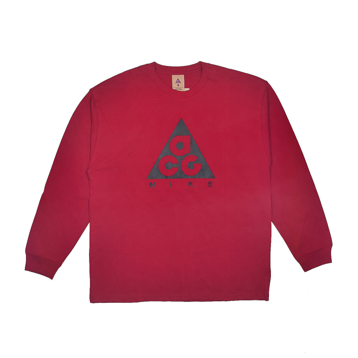 Nike ACG L/S Logo Tee Noble Red/Black