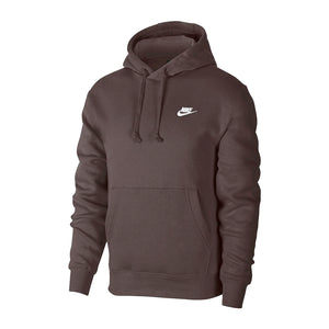 Nike Sportswear Club Fleece Pullover Hoodie Baroque Brown/White BV2654-237
