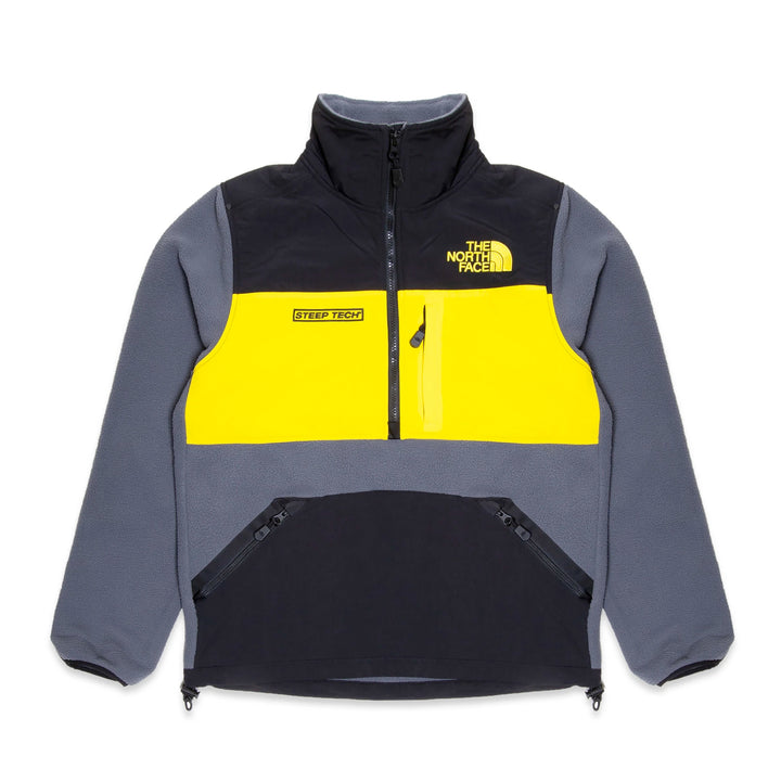 The North Face Steep Tech 1/2 Zip Fleece Jacket Grey/Lightning Yellow