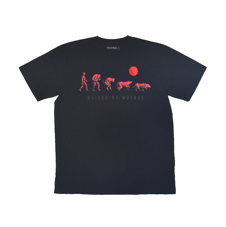 Raised By Wolves Evolution Tee Black