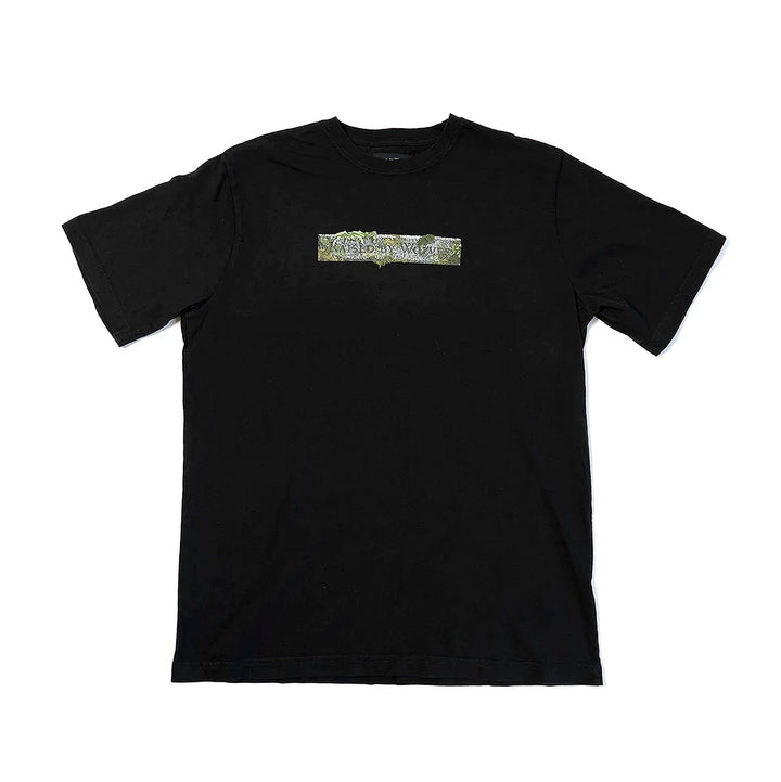 Raised By Wolves Stone Logo Tee Black