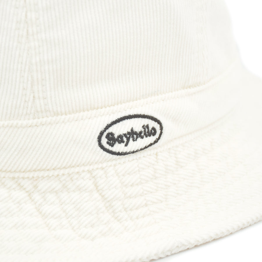 SAYHELLO Corduroy Washed Hat Ivory