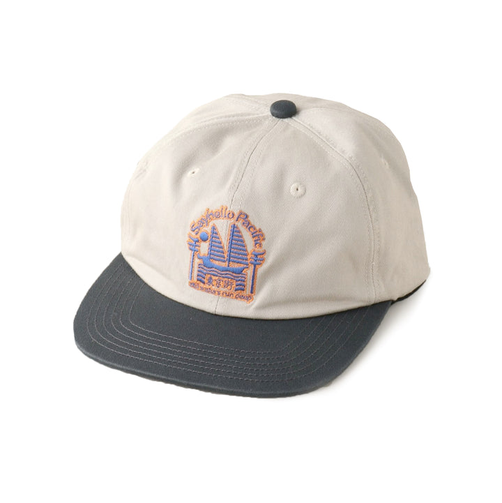 SAYHELLO Pacific Baseball Cap Light Grey/Blue