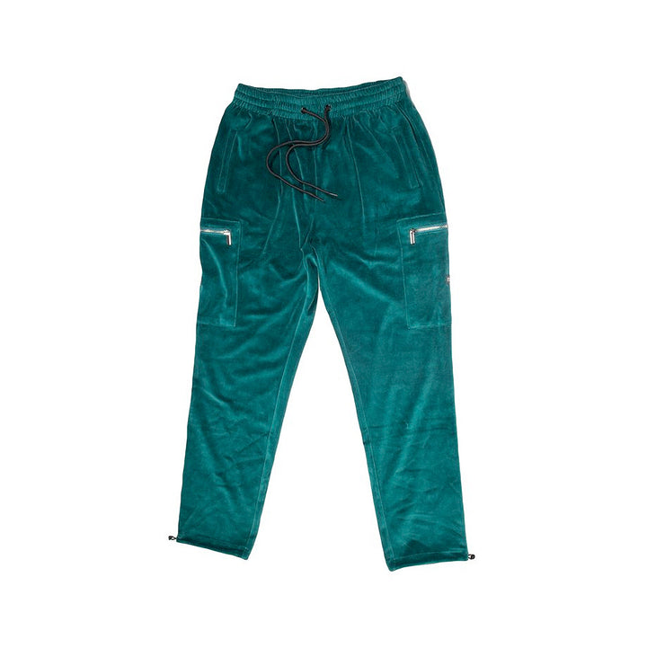 StreetX Velour Cargo Pants Emerald