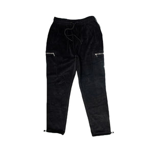 StreetX Velour Cargo Pants Black