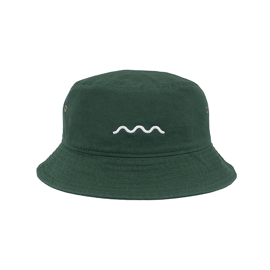 The Good Company Chill Wave Bucket Hat Dark Green/White