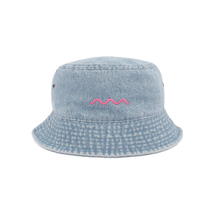 The Good Company Chill Wave Bucket Hat Light Jean/Pink