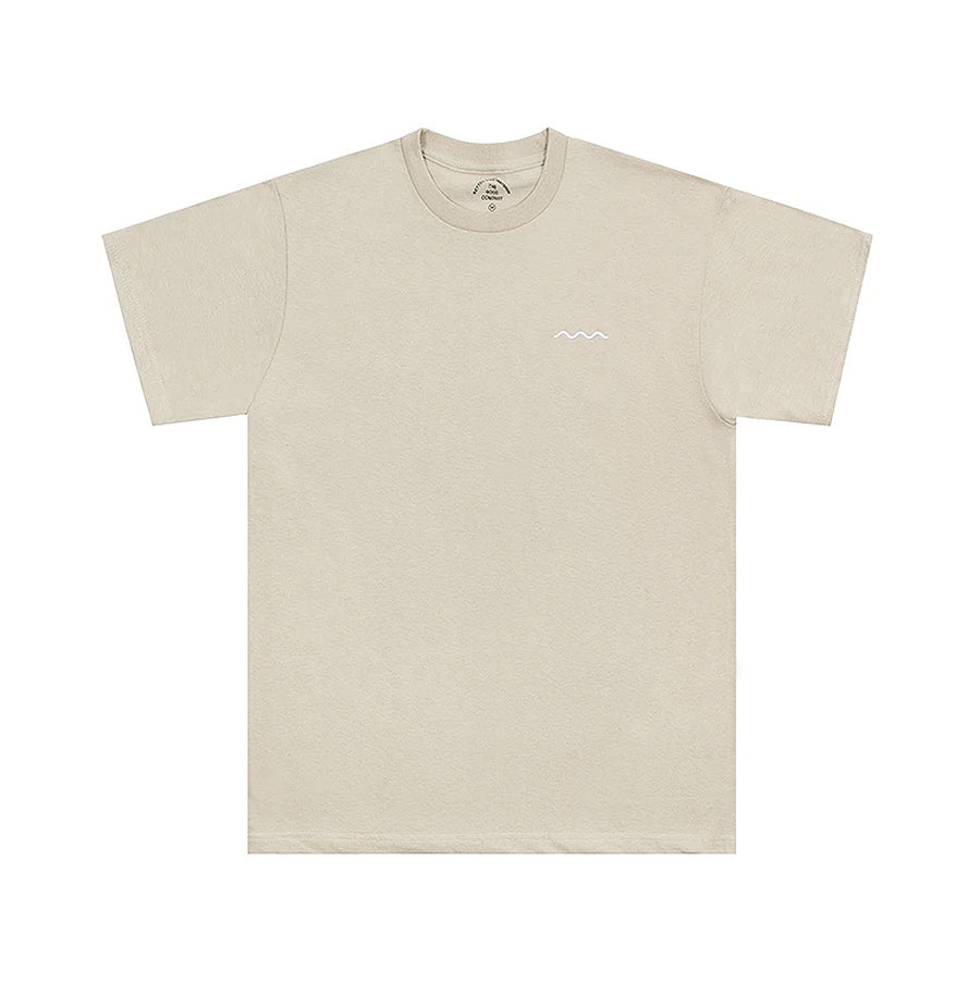 The Good Company Chill Wave Tee Sand/White