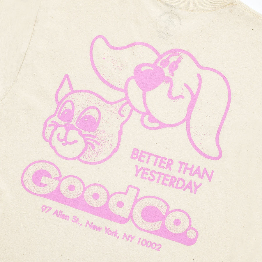 The Good Company Friends Tee Cream/Pink