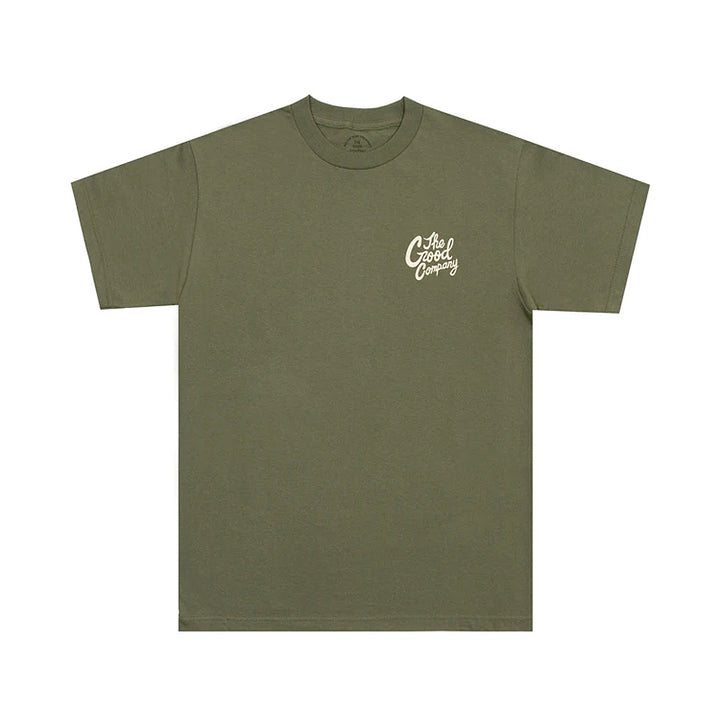 The Good Company Good Time Tee Military Green/Khaki