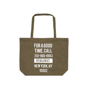 The Good Company Good Time Tote Olive/White