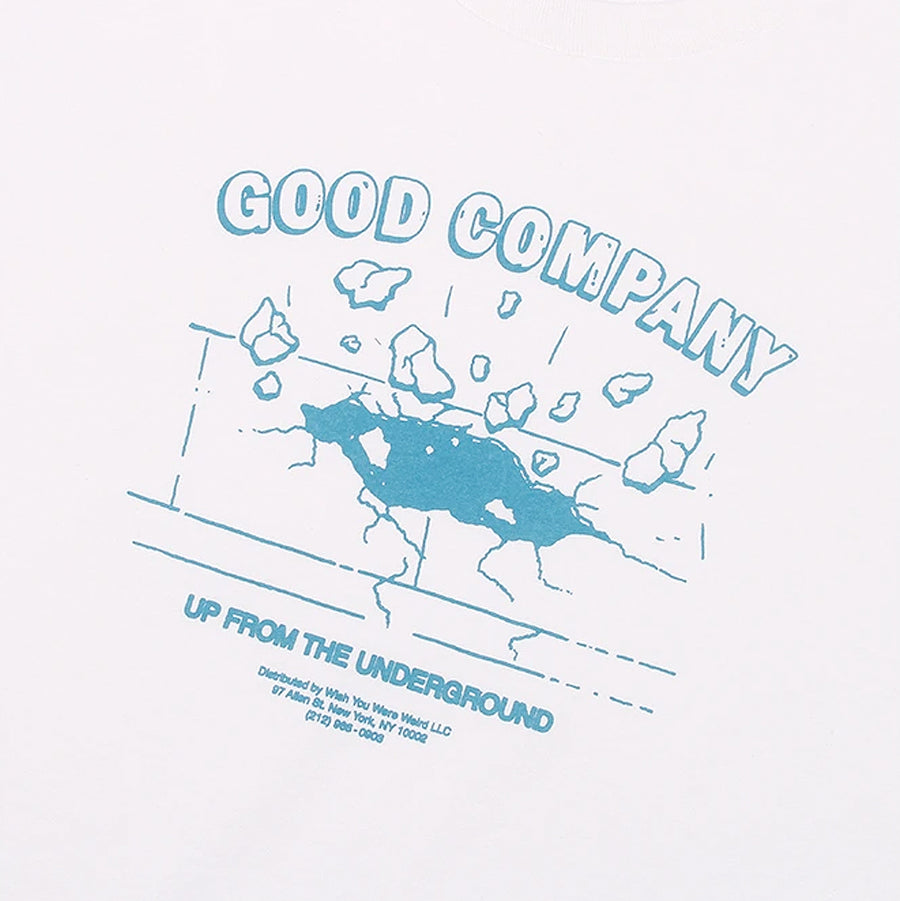The Good Company Up Tee White/Columbia Blue