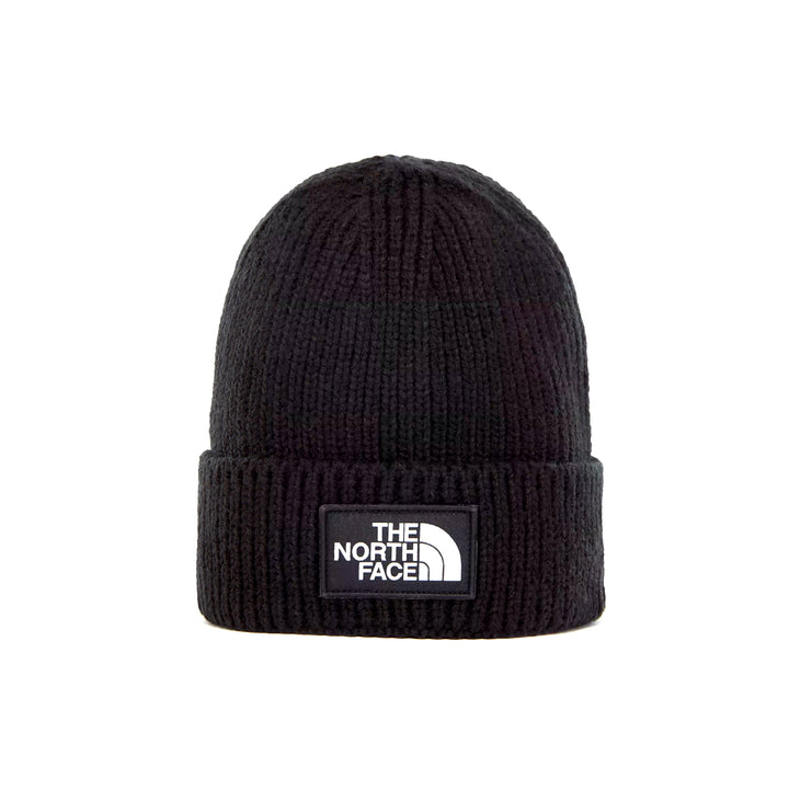 The North Face Logo Box Cuff Beanie TNF Black