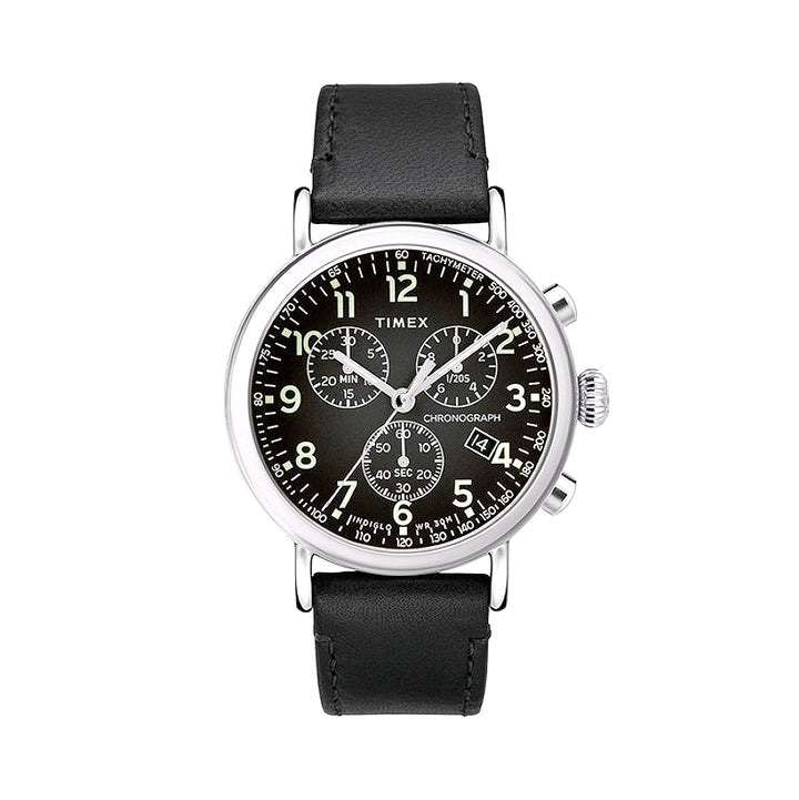 Timex Standard Chronograph 41mm w/Leather Strap