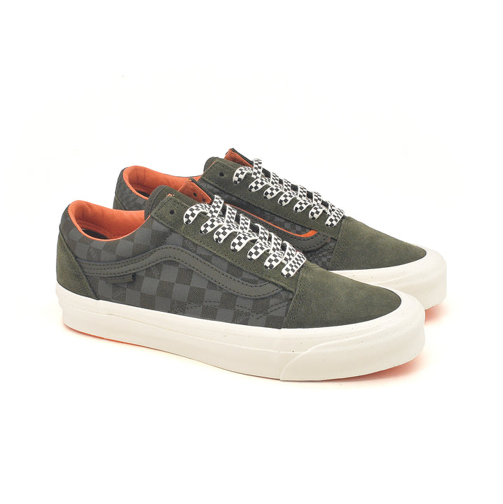 Vans Vault x Porter OG Old Skool LX Forest Night/Orange