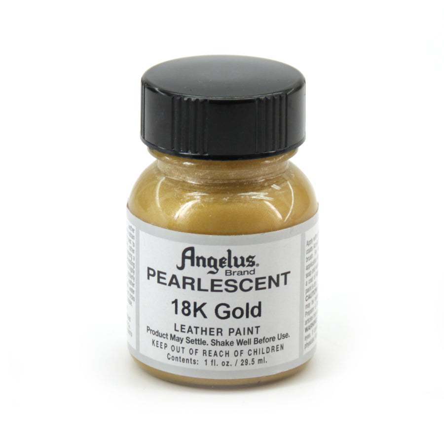 Angelus Paint 1 Ounce Pearlescent 18k Gold