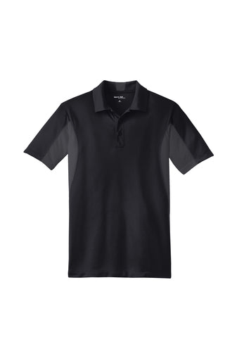Black/Gray Sport-Tek® Side Blocked Micropique Sport-Wick® Polo