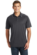 Load image into Gallery viewer, Gray/White Sport-Tek® Micropique Sport-Wick® Piped Polo - Equitas Health Polo - Traditional Fit