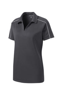 Gray/White Sport-Tek® Ladies Micropique Sport-Wick® Piped Polo