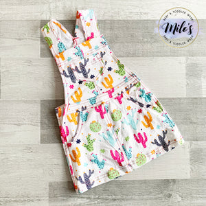 Cactus Soft Cotton Skirt Dungarees