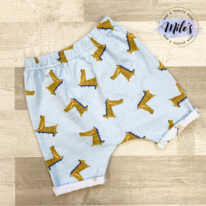 Snappy Crocodile Harem Shorts