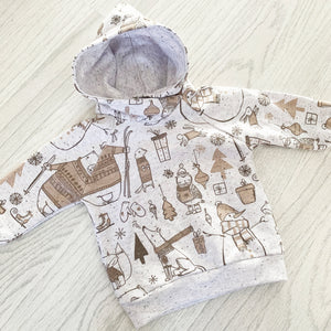 Grey Winter Wonderland Hoodie