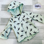 Mint Swallows Coat
