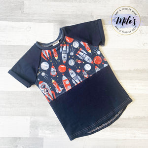 Rocket Ship Space Short Sleeve Tee