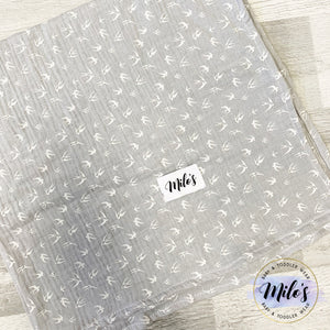 Grey Swallow Muslin Square
