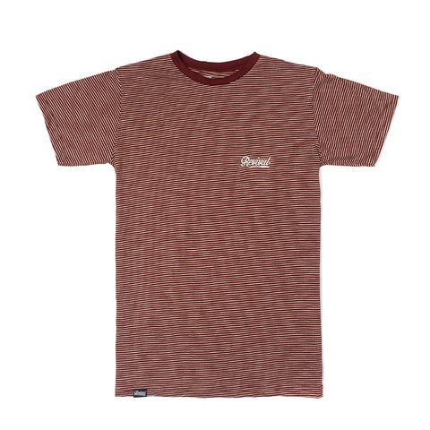 Camiseta - Micro Striped Burgundy Tee