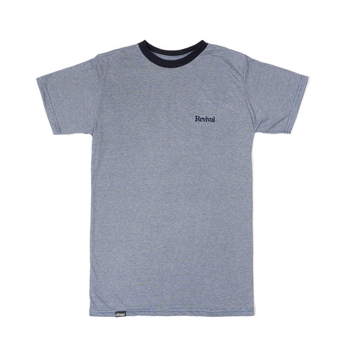 Camiseta - Micro Striped Navy Tee
