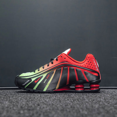 NIKE SHOX R4 NEYMAR JR. BLACK/CHALLENGE RED-METALLIC SILVER