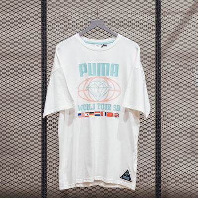 PUMA X DIAMOND TEE PUMA WHITE
