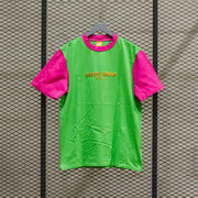 COLOR BLOCKED TSHIRT ORGANIC GREEN APPEL