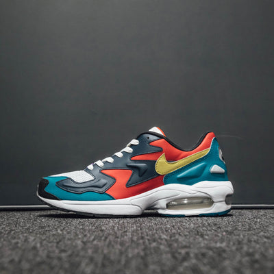 NIKE AIR MAX2 LIGHT HABANERO RED/ARMORY NAVY-RADIANT EMERALD