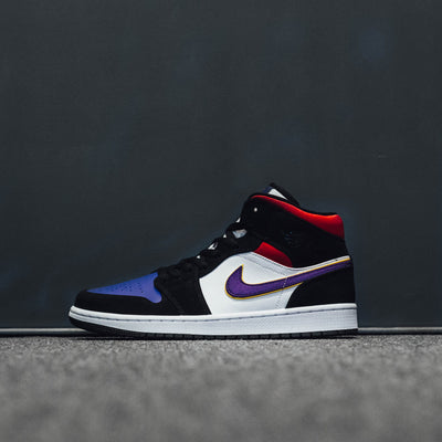 AIR JORDAN 1 MID SE BLACK/FILDPP